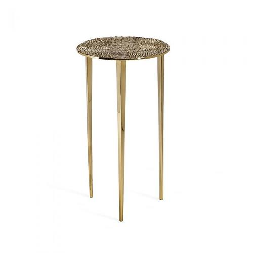 Axel Round Croc Table - Brass