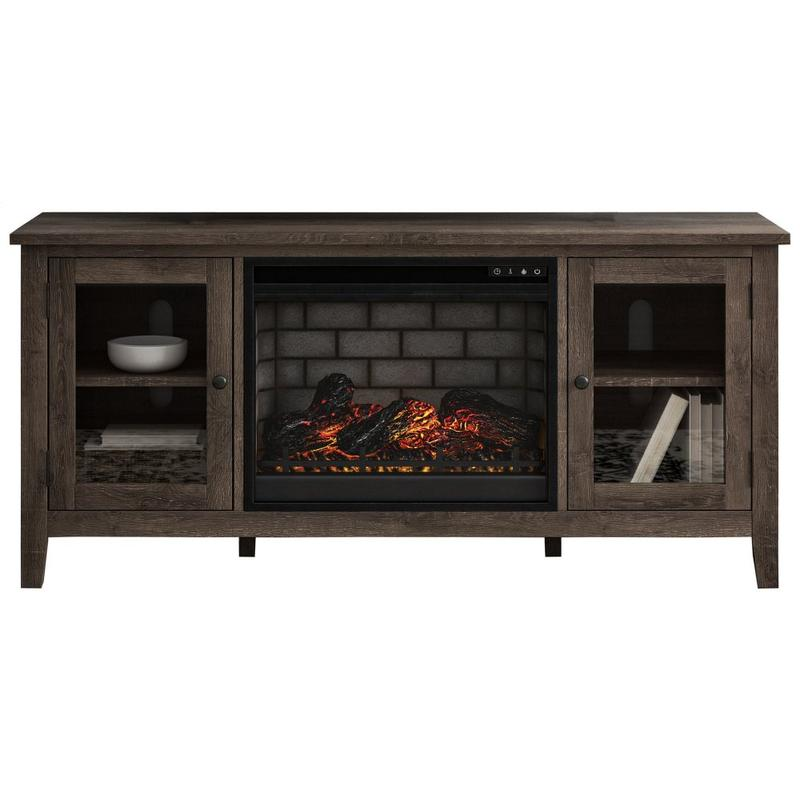 """View Product - Arlenbry 60"""" TV Stand With Electric Fireplace"""