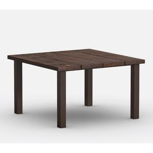 """48"""" Square Cafe Table (with Hole) Ht: 30.25"""" Post Aluminum Base (Model # Includes Both Top & Base)"""