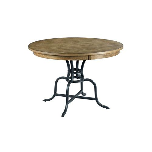 """Gallery - 54"""" Round Dining Table With Metal Base"""