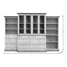 See Details - 4 Piece Full Wall Unit, Unfinished