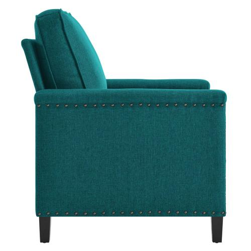 Modway - Ashton Upholstered Fabric Armchair in Teal