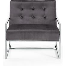 "See Details - Alexis Velvet Accent Chair - 32"" W x 28"" D x 27.5"" H"