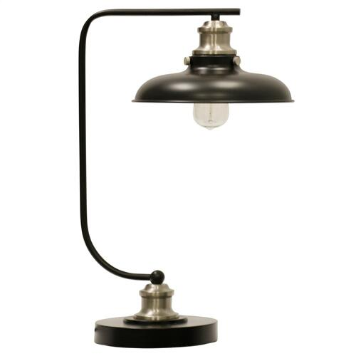 Arvin Silver Industrial Steel Desk Lamp With Bulb  60W