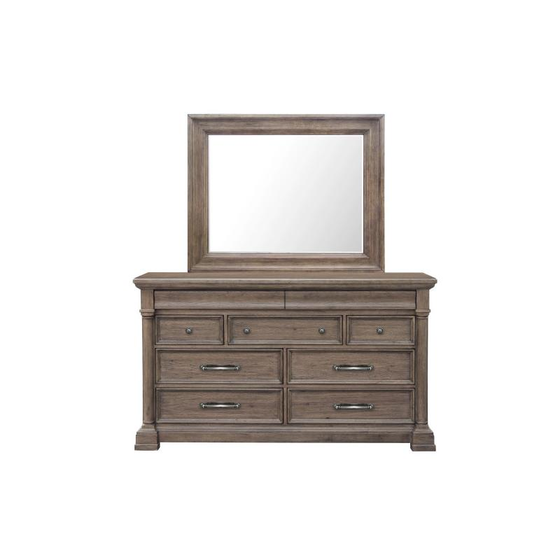Crestmont Mirror in Brown