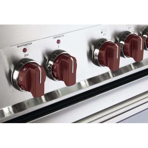 Set of 7 Knobs for Designer Single Oven Electric Range - Burgundy