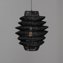 See Details - Shelly Pendant Medium Black w/Bulb