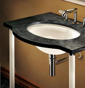 Glass Rod Console Legs for Stone Top Product Image