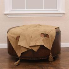 See Details - Embroidered Pine Cone Throw, 50x60 - Tan