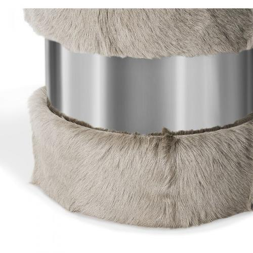 Scarlett Stool - Grey Goat/ Nickel