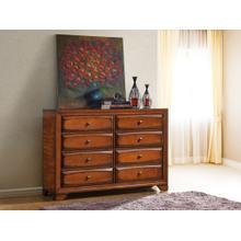 Oakland 139 Antique Oak Finish Wood 6 Drawers Dresser