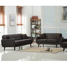 Modibella Contemporary 2PC Living Room Sofa Set, Sofa and Loveseat, Taupe