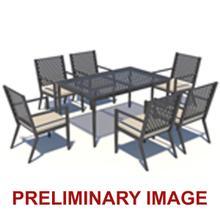 Metal Lattice Top Outdoor Dining Table