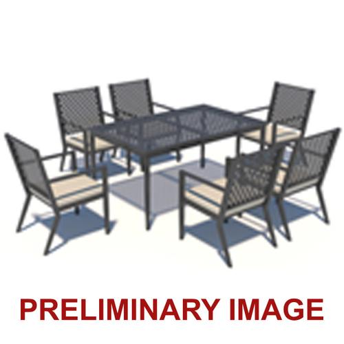 Metal Lattice Back Outdoor Dining Chairs