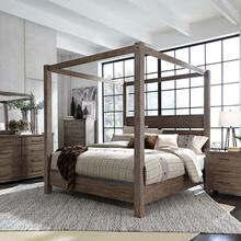 View Product - Queen Canopy Bed, Dresser & Mirror, Chest, Night Stand