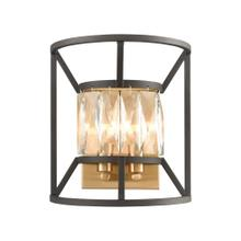 Starlight 2-Light Sconce in Charcoal with Clear Crystal