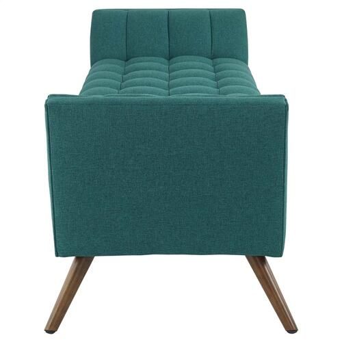 Modway - Response Upholstered Fabric Bench in Teal