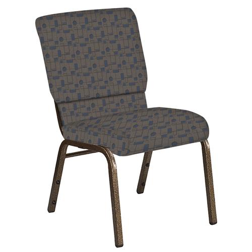 Flash Furniture - 18.5''W Church Chair in Circuit Maple Fabric - Gold Vein Frame