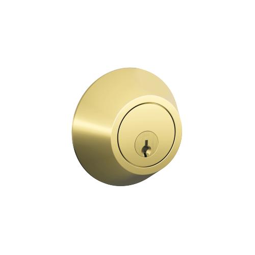 Schlage - J Series Two Side Keyed Deadbolt - Bright Brass