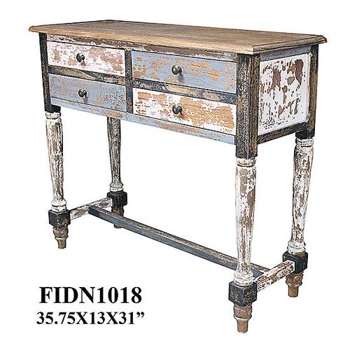 Crestview Collections - 35.75X13X31 SOLID MINDI WD CONSLOE TABLE, 1 KD PK/ 4.66'