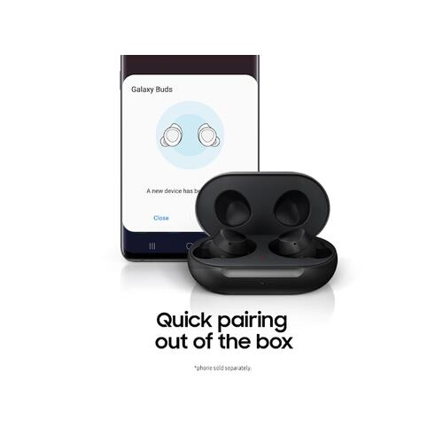 Galaxy Buds, Black (Wireless Charging Case Included)