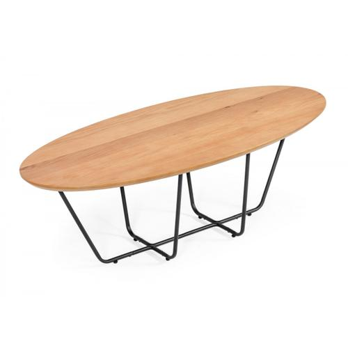 Modrest Esther - Industrial Small Oak Coffee Table