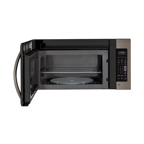 LG - LG Black Stainless Steel Series 2.0 cu.ft. Over-the-Range Microwave Oven with EasyClean®