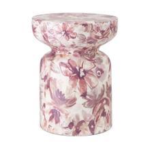 See Details - SG Blush Floral Garden Stool