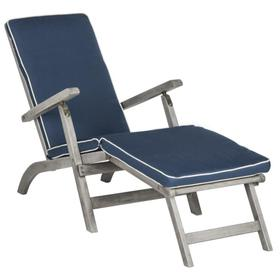 Palmdale Lounge Chair - Grey / Navy