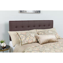 See Details - Lennox Tufted Upholstered Queen Size Headboard in Brown Vinyl