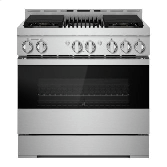 """36"""" NOIR™ Gas Professional-Style Range with Infrared Grill"""