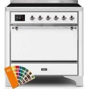 Majestic II 36 Inch Electric Freestanding Range in Custom RAL Color with Chrome Trim
