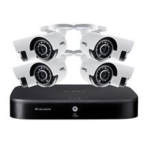 4K Ultra HD 8-Channel Security System with 2 TB DVR and Eight 4K Ultra HD Color Night Vision Bullet Cameras with Smart Home Voice Control