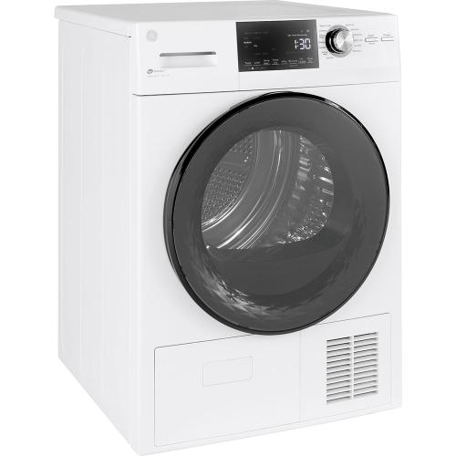 "GE® 4.1 Cu. Ft. Capacity 24"" Ventless Condenser Front Load Electric Dryer White - GFT14JSIMWW"