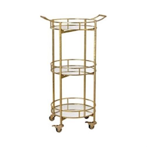 Gold Leaf Bar Cart