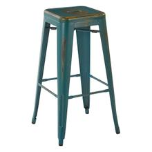 """See Details - Bristow 30"""" Metal Barstools, Antique Tourquoise, 2-pack"""