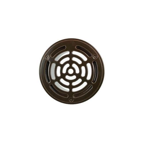 """6"""" Round Solid Nickel Bronze Plated Grid Shower Drain - Matte Black"""