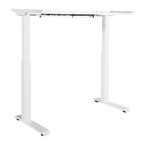 2-stage / 2-motor / 2-leg Electric Height-adjustable Base With Memory Handset, White