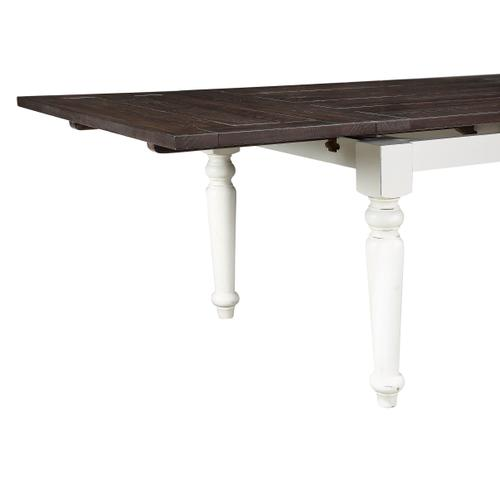 Mountain Retreat Dining Table W/2 Leaves, Dark Mocha & Antique White D601-10-09