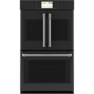 """CafeProfessional Series 30"""" Smart Built-In Convection French-Door Double Wall Oven"""