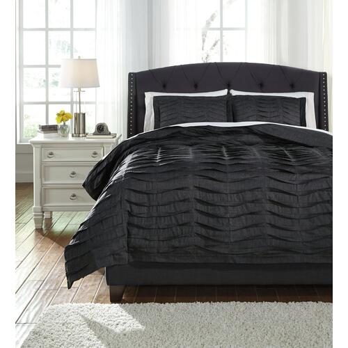Voltos 3-piece Queen Duvet Cover Set