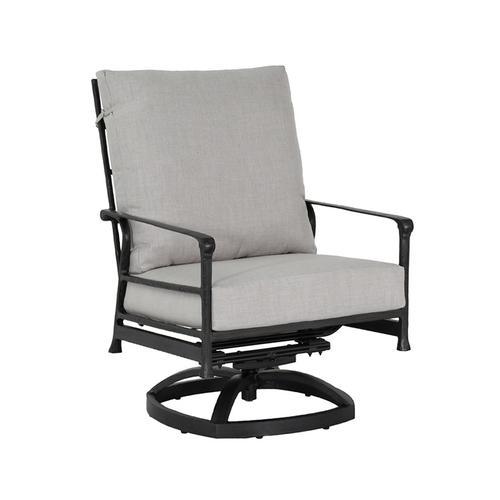 Castelle - Marquis High Back Cushioned Lounge Swivel Rocker