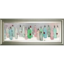 """Wine Party III"" By Samuel Dixon Framed Print Wall Art"