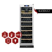 View Product - KUCHT 177-Bottle Dual Zone Wine Cooler Built-in with Compressor in Stainless Steel