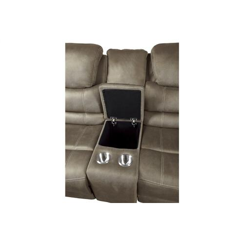Power Double Reclining Sofa with Power Headrests, Drop-Down Cup Holders, Receptacles and USB Ports