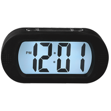 Portable Alarm Clock With Durable Silicone Cover - Black