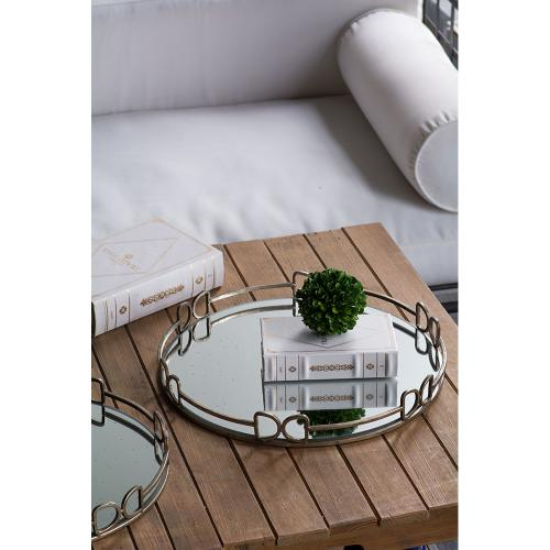 Round Mirror Tray,Large