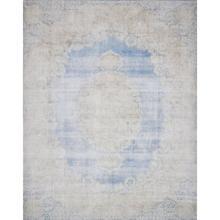 "Lucca Light Blue Sand Rug - 2'-3"" x 3'-9"""