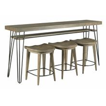 See Details - BAR CONSOLE WITH THREE STOOLS