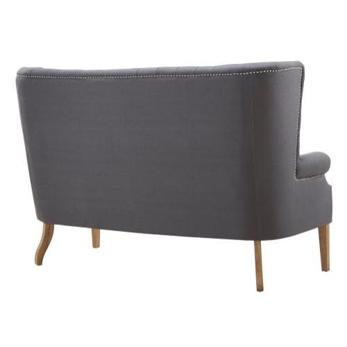 Tov Furniture - Abe Grey Linen Loveseat